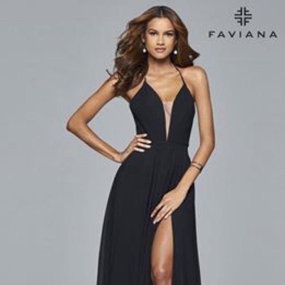 Faviana Dresses & Skirts - Faviana Black prom dress